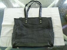 "Thirty-One Large Black Tote Bag Unused 2 Side Pockets 18"" X 11"""