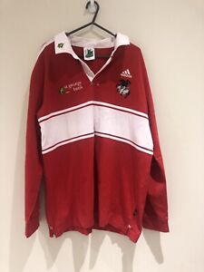 NRL St George Dragons Rugby 2004 Long Sleeve Polo Shirt Jersey Size Large Adidas