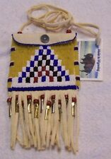 HAND MADE BEADED NECK POUCH RENDEZVOUS BLACK POWDER MOUNTAIN MAN 43