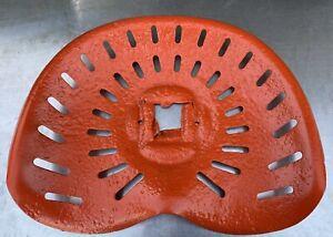 Vintage Metal Tractor Seat Pan Farm Tractor Implement ALLIS-CHALMERS Orange