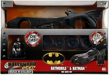 BATMAN KIT MONTAGGIO Die Cast Batmobile 1989 1:24 20cm e Figura BUILD N' COLLECT