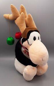"""1985 OPUS Bloom County 16"""" Christmas Reindeer Plush Penguin Deer Animal by Dakin"""