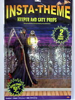 Halloween Props Insta-Theme Skeleton Keeper and Gate Props 2 Large 5 FT Props