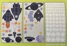 CIRCO WALL DECALS NEW SPACE SHIP BLAST OFF BABY INFANT TODDLER ROOM GLOW IN DARK