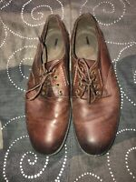 Clarks Mens Leather Casual Oxfords Walking Shoes Size 9.5 M Brown