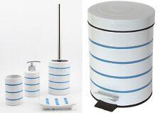 Luxury Bathroom Accessory Set Bin Soap Dish Dispenser Tumbler Toiletbrush Holder