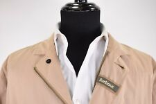 Barbour NWT Summer Lutz Jacket Size XL in Stone w/ Leather Accents