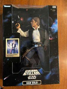 "Kenner Star Wars 12"" Guerre Stellari Exclusive Han Solo Figure Quick Draw 1998"