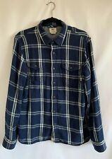 Vans Mens Blue Plaid Flannel Button Up Shirt Medium