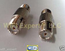 Coax Adapter MiniUHF Female Plug to MINI UHF Female RF Barrel Connector STRAIGHT