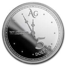 2019 Tokelau NZ $5 Chronos 1 oz .999 Silver Limited Capsuled BU Proof-Like Round