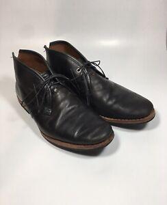TIMBERLAND Wodehouse Chukka Boot Black Leather 75510 Men's size 8 EUC $299