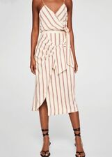 Woman striped bow skirt,mango,size M