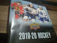 2019-20 Upper Deck Series 1 Complete Base Set #1-200 + Limited Collectors Binder