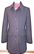 Lands' End Women's Black Wool Coat Jacket Size 8 NWOT New without Tags