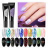 BORN PRETTY 8ml Glitter Pulver Stamping Gel Soak Off Nail UV Gel Silber Gold