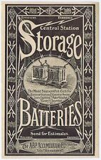ABP Accumulator Co Ltd Stockton on Tees, Storage Batteries - Antique Advert 1904