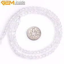 Natural Stone Crackle Rock Crystal Quartz Gemstone Beads For Jewelry Making 15""