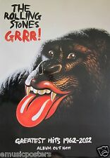 """THE ROLLING STONES """"GRRR!"""" LARGE THAILAND PROMO POSTER - Sexy Gorilla With Lips!"""