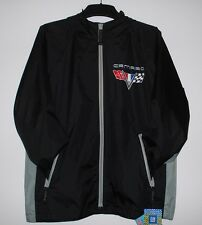 Size M Camaro Racing Raincoat Nylon Windbreaker Jacket With Packing Pouch