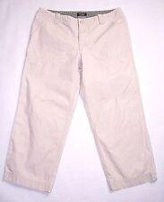 """EDDIE Bauer Womens """"Vashon Fit"""" - Ivory/ Light Beige Capris/ Cropped Pants Sz 8"""