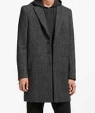 Label Lab Mens Long Black Trench Coat Uk Size Medium