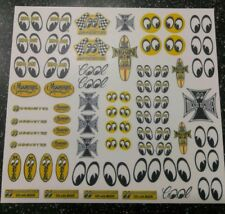 Mooneyes WATER-SLIDE DECALS FOR HOT WHEELS / MATCHBOX,1:64 scale MADE IN USA!!!