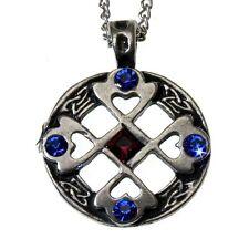 Nordic Lights croce celtica peltro Collana con pendente cuore cristallo Felice Amici