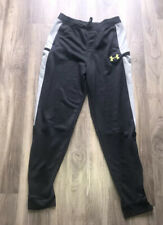 Boys Under Armor Sweat Pants Youth Boys XL Size YXL Black & Gray