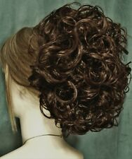 PHOEBE Curly Clip On HairPiece by Mona Lisa - 12 Light Brown