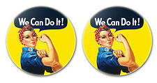 """WE CAN DO IT! - LARGE 2.25"""" pinback buttons badges pins SET OF TWO"""