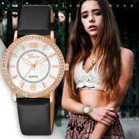 Fashion Ladies Women's Leather Quartz Stainless Steel Watches Analog Wrist Watch