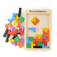 Wooden Tangram Brain Teaser Puzzle Toys Educational Kids Baby Child Toy