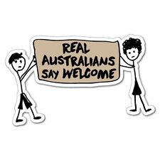 Stick People Real Australians Say Sticker Aussie Car Flag 4x4 Funny Ute #6174EN