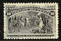 [L]  US #237 MNH 1893 10c 'Columbian Exposition' Stamp..Ships Free!  [CV=$250]
