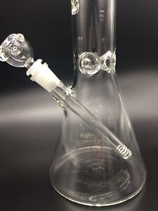 """50mm is the tube diameter 5mm Thick Glass Water Pipe Bong Beaker 18""""Inch"""