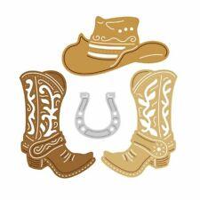 Cowboy Hat Boots Cuttting Dies Scrapbooking Paper Card Photo Craft Mold Stencil
