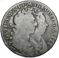 More details for 1689 halfcrown - william & mary british silver coin