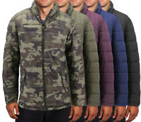 Men's Camo Reversible Insulated Quilted Packable Lightweight Zip Puffer Jacket