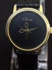 Hand Winding Classic, Ladies Watch 30 Mm Case Black Face,Gold Hands,Work 👌