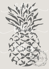 STENCIL A5 PINEAPPLE Furniture Fabric Vintage Shabby Chic Upcycled ❤ 190 MYLAR