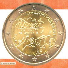 Sondermünzen Frankreich: 2 Euro Münze 2011 Musik Sondermünze zwei€ Gedenkmünze