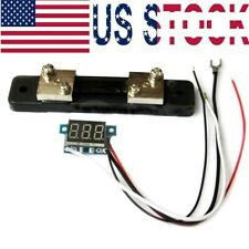 "For 0.36"" Blue LED Digital DC AMP Mini Current Panel Meter DC 0-50A"