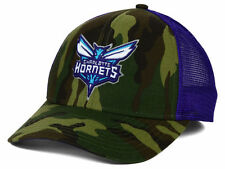Charlotte Hornets Adidas Camo and Purple Trucker NBA Snapback Hat Sun Cap OSFA
