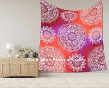 Galaxy Ombre Mandala Tapestry Bedspread Throw Queen Indian Wall Hanging Decor