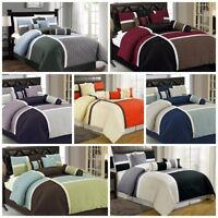 Chezmoi Collection 7-Piece Quilted Patchwork Duvet Cover Set with Corner Ties
