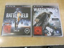 Watch Dogs + Battlefield 3 | Playstation 3 | PS3 | gebraucht mit Anleitungen