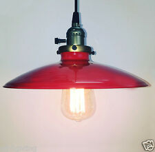 Iron Red Metal Lampshade Vintage Retro Loft Pendant Light Ceiling Lamp Fitting