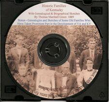 Historic Families of Kentucky - KY Genealogy