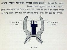 1939 Hebrew FIREARMS MANUAL Israel WEAPON TRAINING Notrim APPLICATION of FIRE